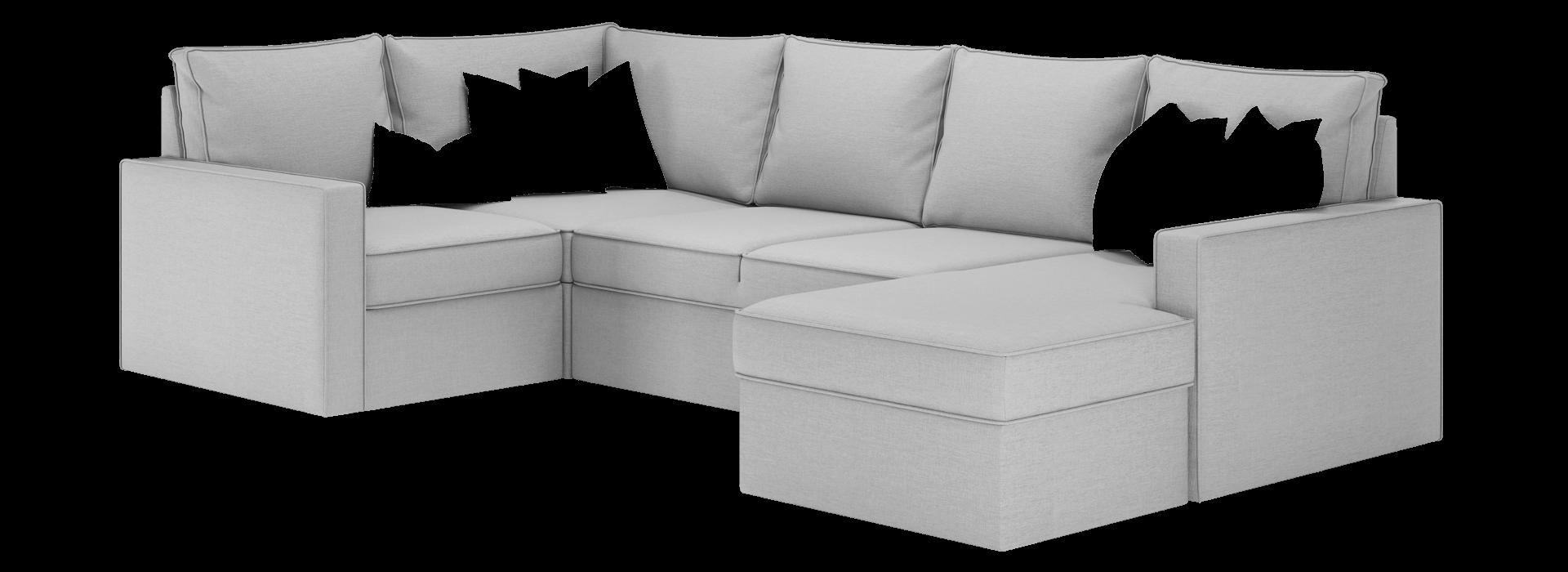 Лінкольн В модульний кутовий диван - маска 2